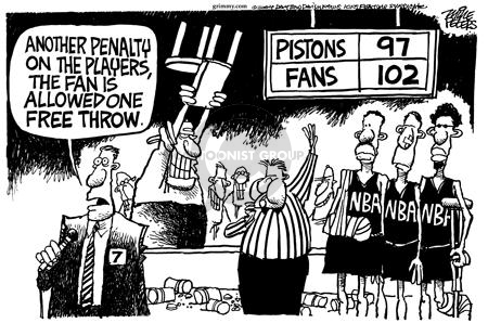 Cartoonist Mike Peters  Mike Peters' Editorial Cartoons 2004-11-25 violent