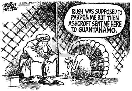 Cartoonist Mike Peters  Mike Peters' Editorial Cartoons 2003-11-27 terrorist