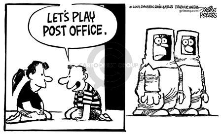 Cartoonist Mike Peters  Mike Peters' Editorial Cartoons 2001-11-28 play