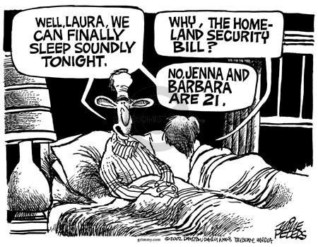 Cartoonist Mike Peters  Mike Peters' Editorial Cartoons 2002-11-28 sleep