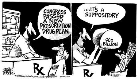 Cartoonist Mike Peters  Mike Peters' Editorial Cartoons 2003-11-28 prescription