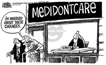 Cartoonist Mike Peters  Mike Peters' Editorial Cartoons 2003-11-29 care