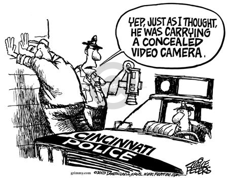 Mike Peters  Mike Peters' Editorial Cartoons 2003-12-04 police