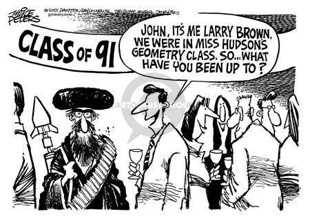 Cartoonist Mike Peters  Mike Peters' Editorial Cartoons 2001-12-08 college student