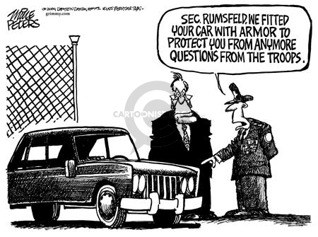 Mike Peters  Mike Peters' Editorial Cartoons 2004-12-16 armor-plated