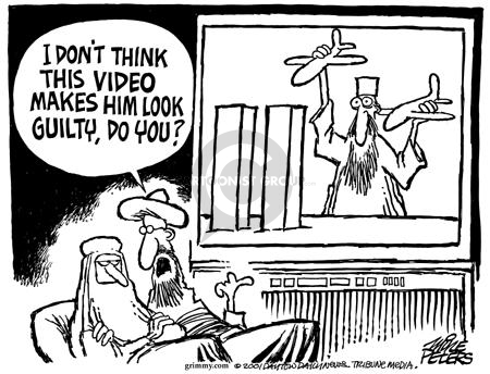 Cartoonist Mike Peters  Mike Peters' Editorial Cartoons 2001-12-19 contradiction