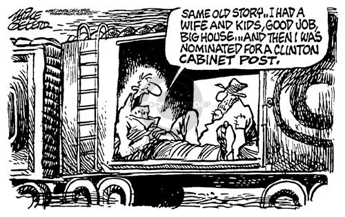 Cartoonist Mike Peters  Mike Peters' Editorial Cartoons 1995-02-14 Clinton administration