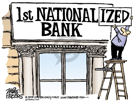 Cartoonist Mike Peters  Mike Peters' Editorial Cartoons 2008-10-15 government
