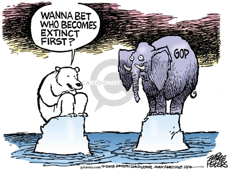 Cartoonist Mike Peters  Mike Peters' Editorial Cartoons 2008-10-19 endangered