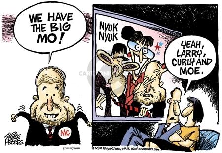 Cartoonist Mike Peters  Mike Peters' Editorial Cartoons 2008-10-30 trend