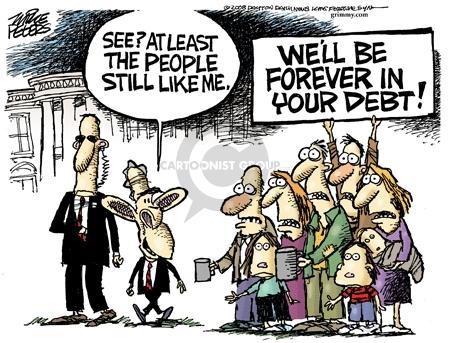 Cartoonist Mike Peters  Mike Peters' Editorial Cartoons 2008-11-05 downturn
