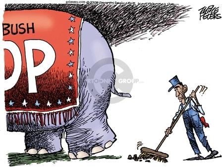 Cartoonist Mike Peters  Mike Peters' Editorial Cartoons 2008-11-11 Bush legacy