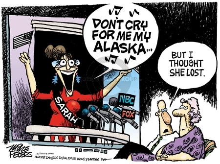 Cartoonist Mike Peters  Mike Peters' Editorial Cartoons 2008-11-12 Sarah Palin
