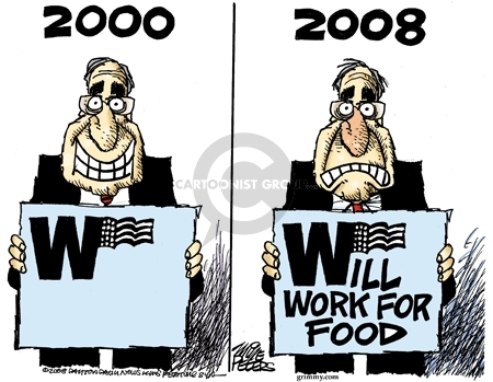 Cartoonist Mike Peters  Mike Peters' Editorial Cartoons 2008-11-24 unemployment