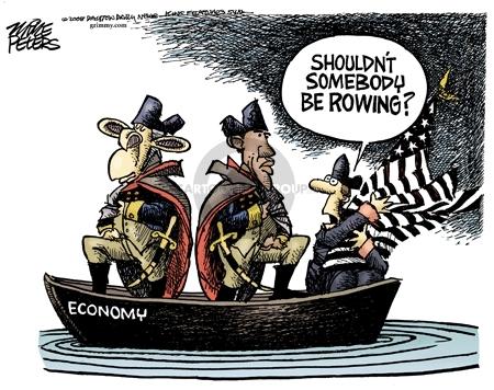 Cartoonist Mike Peters  Mike Peters' Editorial Cartoons 2008-11-25 George W. Bush