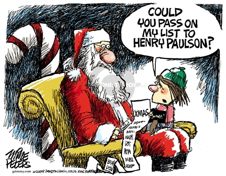 Cartoonist Mike Peters  Mike Peters' Editorial Cartoons 2008-11-28 financial management