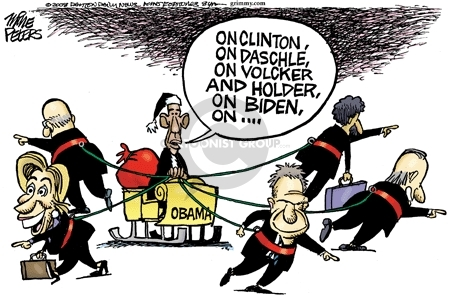 Cartoonist Mike Peters  Mike Peters' Editorial Cartoons 2008-12-02 cabinet