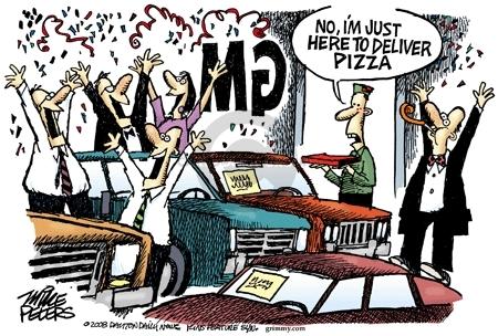 Mike Peters  Mike Peters' Editorial Cartoons 2008-12-07 car sales