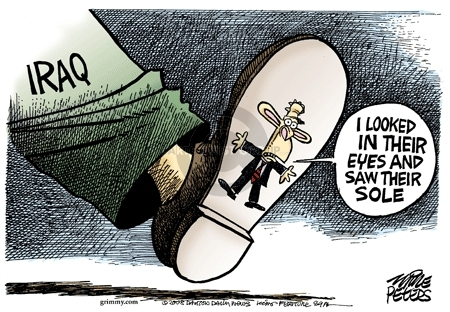 Cartoonist Mike Peters  Mike Peters' Editorial Cartoons 2008-12-18 eye