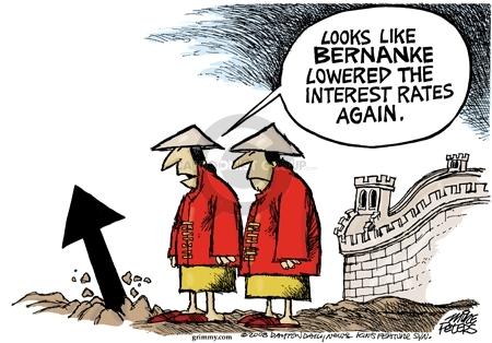 Looks like Bernanke lowered the interest rates again.