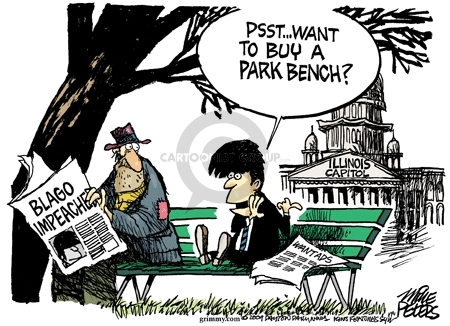 Cartoonist Mike Peters  Mike Peters' Editorial Cartoons 2009-01-09 bench