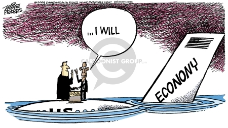 Cartoonist Mike Peters  Mike Peters' Editorial Cartoons 2009-01-16 sink