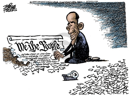 Cartoonist Mike Peters  Mike Peters' Editorial Cartoons 2009-01-19 Bush term