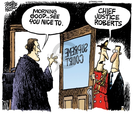 Mike Peters  Mike Peters' Editorial Cartoons 2009-01-21 Chief Justice