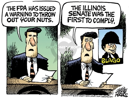 Cartoonist Mike Peters  Mike Peters' Editorial Cartoons 2009-01-31 political corruption