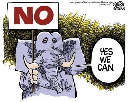 Cartoonist Mike Peters  Mike Peters' Editorial Cartoons 2009-02-10 republican