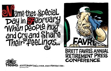 Cartoonist Mike Peters  Mike Peters' Editorial Cartoons 2009-02-12 retirement