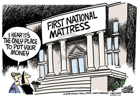 Cartoonist Mike Peters  Mike Peters' Editorial Cartoons 2009-02-18 downturn