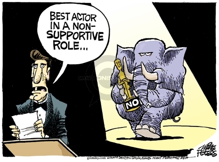 Cartoonist Mike Peters  Mike Peters' Editorial Cartoons 2009-02-20 role