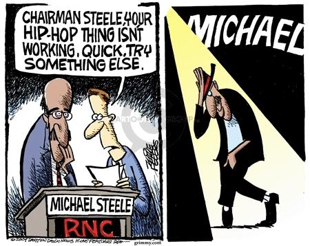 Cartoonist Mike Peters  Mike Peters' Editorial Cartoons 2009-03-07 Michael Steele