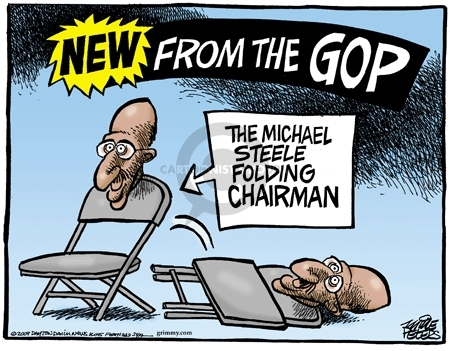 Cartoonist Mike Peters  Mike Peters' Editorial Cartoons 2009-03-14 Michael Steele