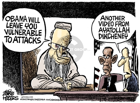 Mike Peters  Mike Peters' Editorial Cartoons 2009-03-24 ayatollah