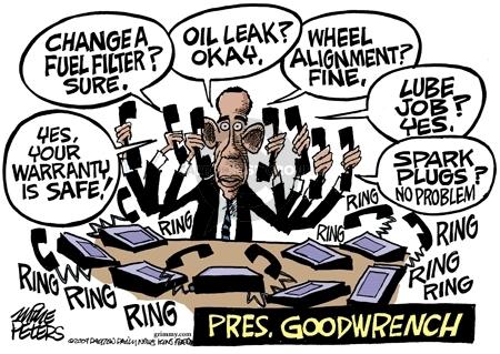 Cartoonist Mike Peters  Mike Peters' Editorial Cartoons 2009-03-31 marketing