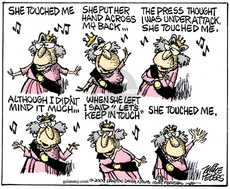 Cartoonist Mike Peters  Mike Peters' Editorial Cartoons 2009-04-03 Michelle Obama