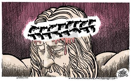 Cartoonist Mike Peters  Mike Peters' Editorial Cartoons 2009-04-10 gun violence