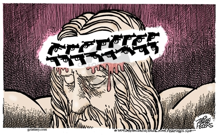 Cartoonist Mike Peters  Mike Peters' Editorial Cartoons 2009-04-10 violence