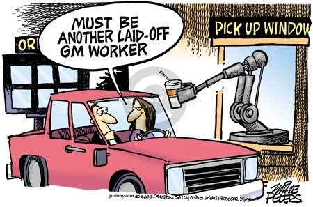 Cartoonist Mike Peters  Mike Peters' Editorial Cartoons 2009-04-24 unemployment
