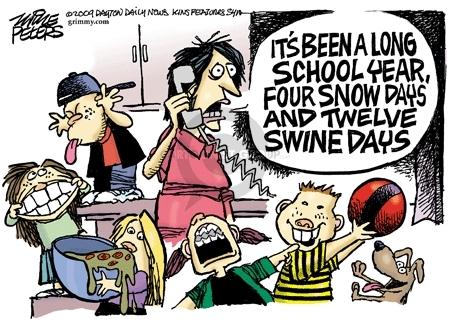 Mike Peters  Mike Peters' Editorial Cartoons 2009-05-08 swine flu