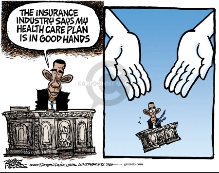 Cartoonist Mike Peters  Mike Peters' Editorial Cartoons 2009-05-20 Obama health care