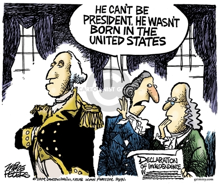 Mike Peters  Mike Peters' Editorial Cartoons 2009-06-12 George Washington