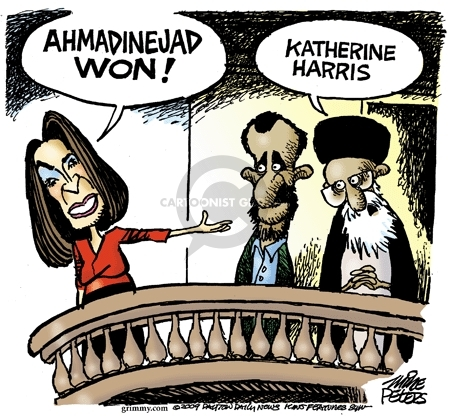 Mike Peters  Mike Peters' Editorial Cartoons 2009-06-16 Iranian election
