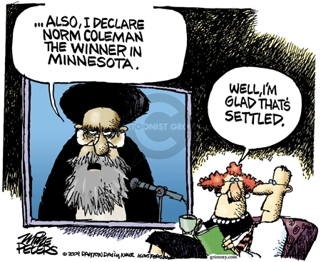 Mike Peters  Mike Peters' Editorial Cartoons 2009-06-19 ayatollah
