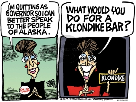 Cartoonist Mike Peters  Mike Peters' Editorial Cartoons 2009-07-14 Sarah Palin