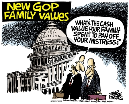 New GOP family values. Whats the cash value your family spent to pay off your mistress?
