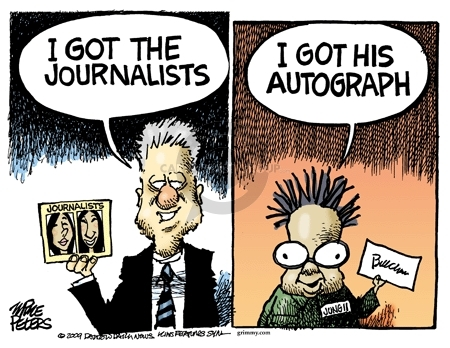 Mike Peters  Mike Peters' Editorial Cartoons 2009-08-05 autograph