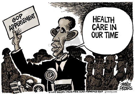 Cartoonist Mike Peters  Mike Peters' Editorial Cartoons 2009-08-18 Obama health care